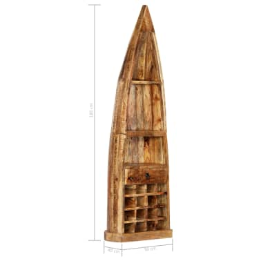 vidaXL Casier à bouteilles 50 x 40 x 180 cm Bois de manguier massif[9/15]