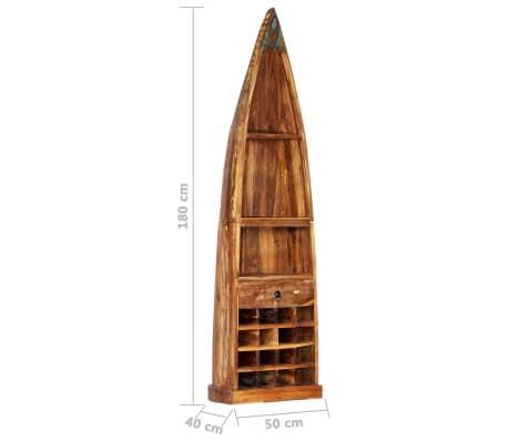 vidaXL Casier à bouteilles 50x40x180 cm Bois massif de récupération[8/15]