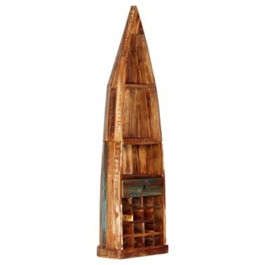 vidaXL Casier à bouteilles 50x40x180 cm Bois massif de récupération[12/15]