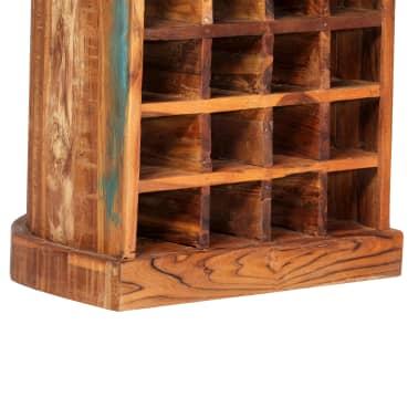 vidaXL Casier à bouteilles 50x40x180 cm Bois massif de récupération[4/15]