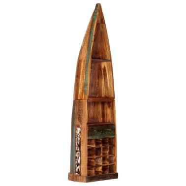 vidaXL Casier à bouteilles 50x40x180 cm Bois massif de récupération[10/15]