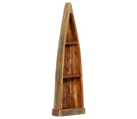 vidaXL Armario con forma de barco madera reciclada mango 40x30x130 cm