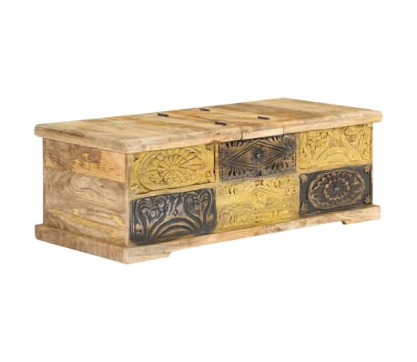 vidaXL Kavos staliukas, 100x50x35 cm, mango medienos masyvas[1/12]