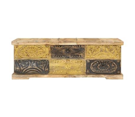 vidaXL Kavos staliukas, 100x50x35 cm, mango medienos masyvas[2/12]