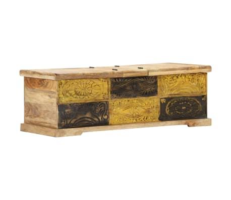vidaXL Kavos staliukas, 100x50x35 cm, mango medienos masyvas[11/12]