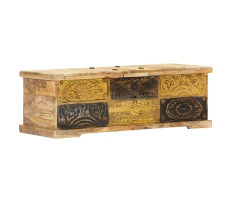 vidaXL Kavos staliukas, 100x50x35 cm, mango medienos masyvas[12/12]