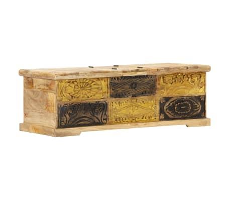 vidaXL Kavos staliukas, 100x50x35 cm, mango medienos masyvas[9/12]