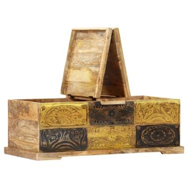 vidaXL Kavos staliukas, 100x50x35 cm, mango medienos masyvas[3/12]