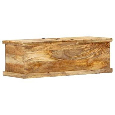 vidaXL Kavos staliukas, 100x50x35 cm, mango medienos masyvas[4/12]