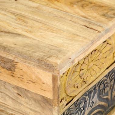vidaXL Kavos staliukas, 100x50x35 cm, mango medienos masyvas[5/12]