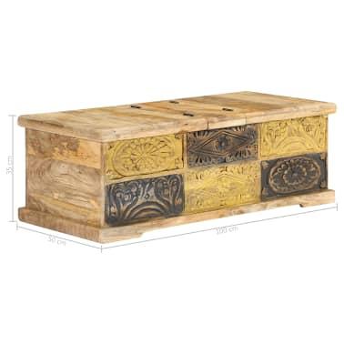 vidaXL Kavos staliukas, 100x50x35 cm, mango medienos masyvas[7/12]