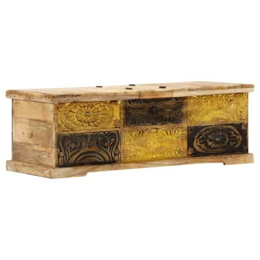 vidaXL Kavos staliukas, 100x50x35 cm, mango medienos masyvas[10/12]