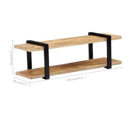 vidaXL Tv-meubel 130x40x40 cm massief mangohout[6/11]
