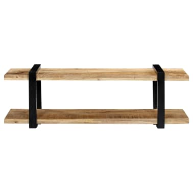 vidaXL Tv-meubel 130x40x40 cm massief mangohout[3/11]