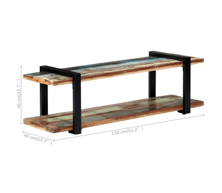 vidaXL Tv-meubel 130x40x40 cm massief gerecycled hout[7/11]
