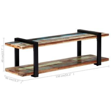 vidaXL Tv-meubel 130x40x40 cm massief gerecycled hout[6/11]
