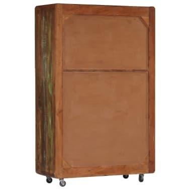 vidaXL Buffet 90 x 42 x 142 cm Bois de récupération massif[3/15]