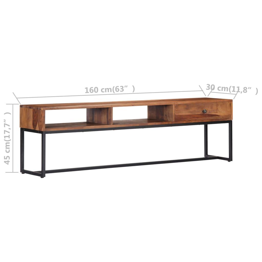 vidaXL Tv-meubel 160x30x45 cm massief sheeshamhout