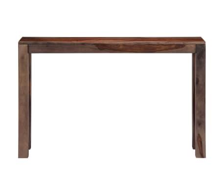 vidaXL Mesa consola 120x30x76 cm madera maciza de sheesham gris[3/11]