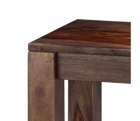 vidaXL Mesa consola 120x30x76 cm madera maciza de sheesham gris[4/11]