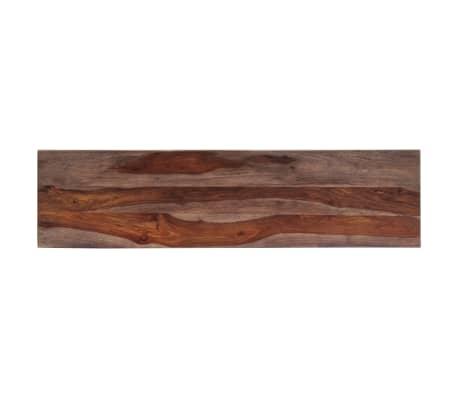 vidaXL Mesa consola 120x30x76 cm madera maciza de sheesham gris[6/11]