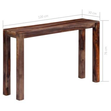 vidaXL Mesa consola 120x30x76 cm madera maciza de sheesham gris[7/11]