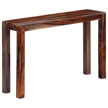 vidaXL Mesa consola 120x30x76 cm madera maciza de sheesham gris[10/11]