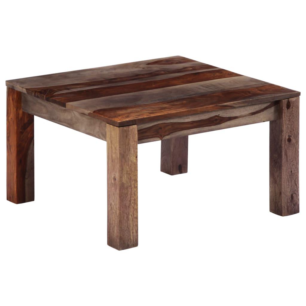 vidaXL Konferenční stolek šedý 60 x 60 x 35 cm masivní sheesham