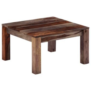 vidaXL Konferenční stolek šedý 60 x 60 x 35 cm masivní sheesham[1/11]