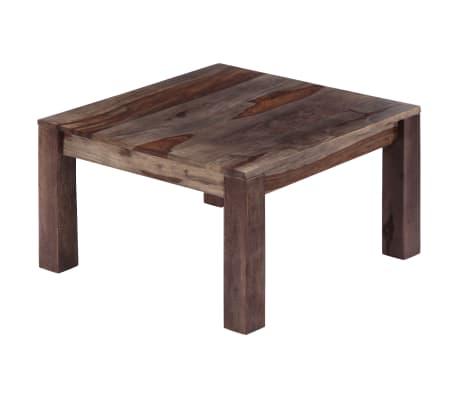 vidaXL Konferenční stolek šedý 60 x 60 x 35 cm masivní sheesham[2/11]