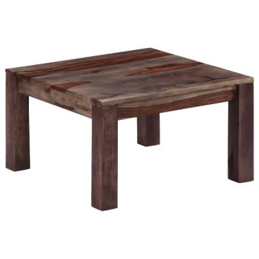 vidaXL Konferenční stolek šedý 60 x 60 x 35 cm masivní sheesham[11/11]
