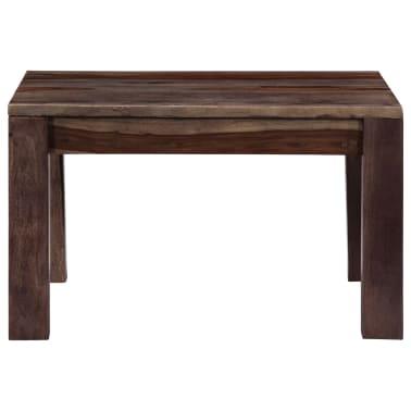 vidaXL Konferenční stolek šedý 60 x 60 x 35 cm masivní sheesham[3/11]