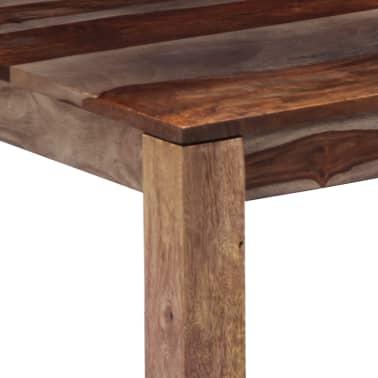vidaXL Konferenční stolek šedý 60 x 60 x 35 cm masivní sheesham[4/11]