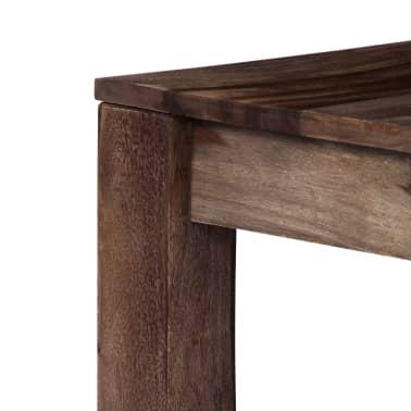 vidaXL Konferenční stolek šedý 60 x 60 x 35 cm masivní sheesham[5/11]