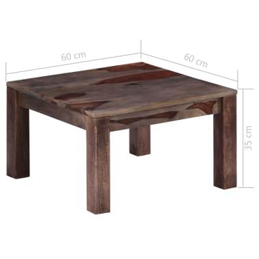 vidaXL Konferenční stolek šedý 60 x 60 x 35 cm masivní sheesham[7/11]