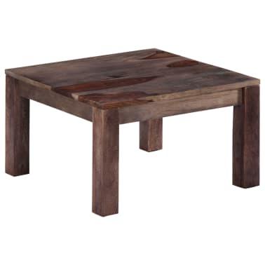 vidaXL Konferenční stolek šedý 60 x 60 x 35 cm masivní sheesham[8/11]