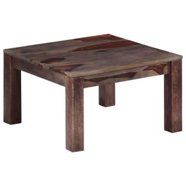 vidaXL Konferenční stolek šedý 60 x 60 x 35 cm masivní sheesham[9/11]