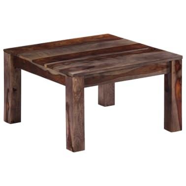 vidaXL Konferenční stolek šedý 60 x 60 x 35 cm masivní sheesham[10/11]