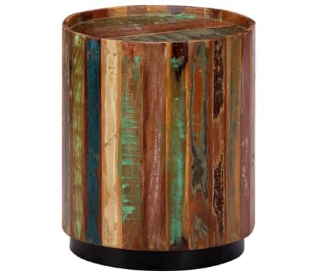 vidaXL Coffee Table 38x45 cm Solid Reclaimed Wood[2/12]