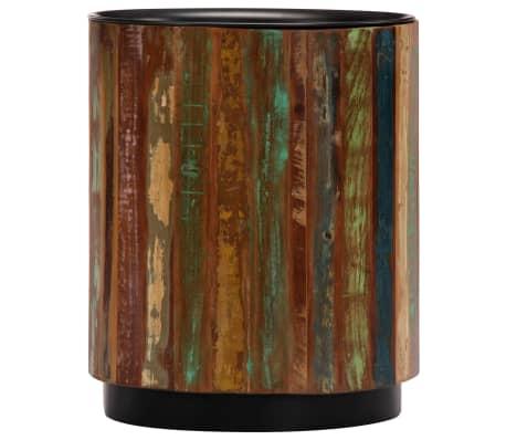 vidaXL Coffee Table 38x45 cm Solid Reclaimed Wood[3/12]
