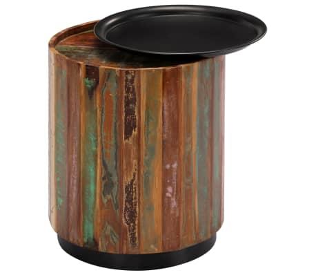 vidaXL Coffee Table 38x45 cm Solid Reclaimed Wood[4/12]