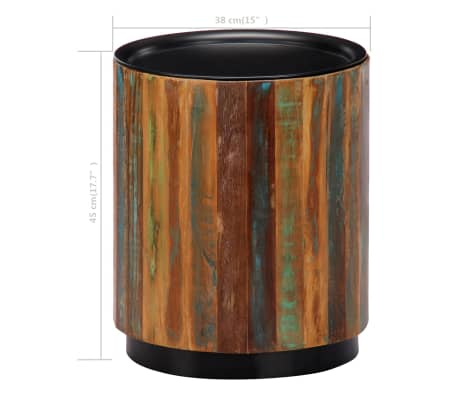 vidaXL Coffee Table 38x45 cm Solid Reclaimed Wood[8/12]