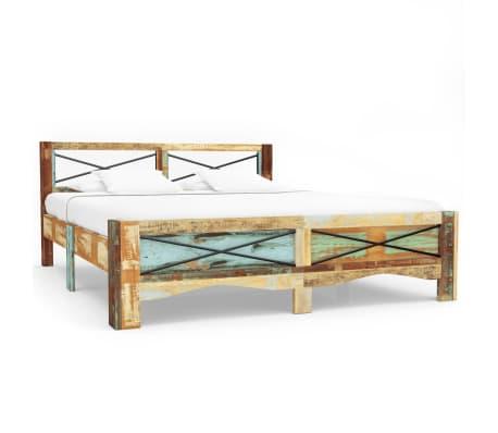 vidaXL Cadre de lit Bois de récupération massif 140 x 200 cm