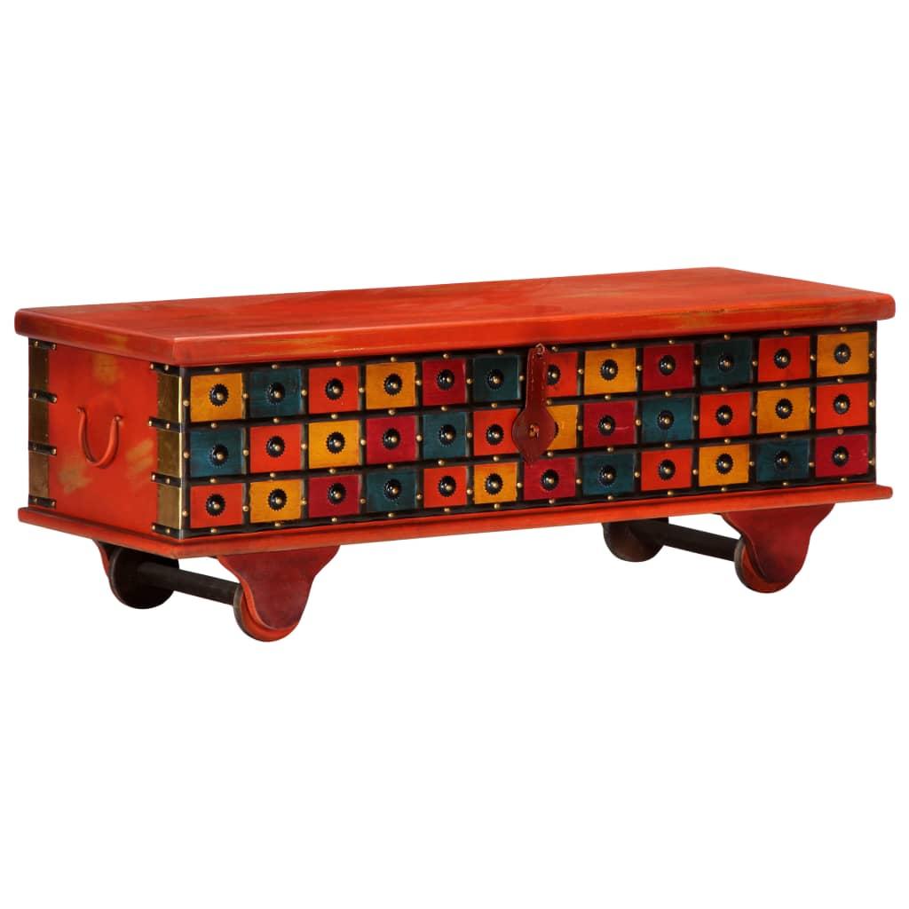 Hoiukast, punane, 110 x 40 x 40 cm, akaatsiapuit