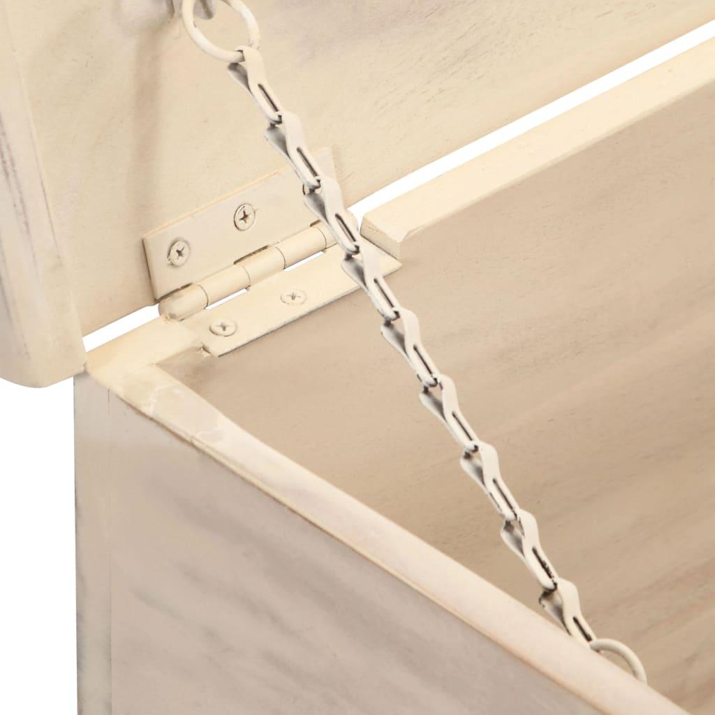 Hoiukast, valge, 110 x 40 x 45 cm, akaatsiapuit