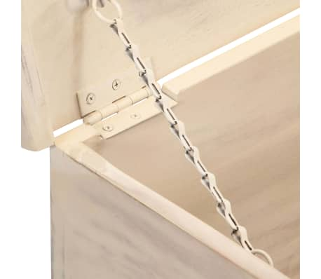 vidaXL Boîte de rangement Blanc 110x40x45 cm Bois d'acacia massif[6/13]