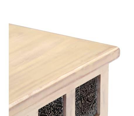 vidaXL Boîte de rangement Blanc 110x40x45 cm Bois d'acacia massif[7/13]