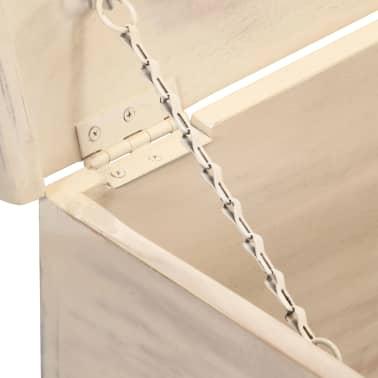 vidaXL Boîte de rangement Blanc 110x40x45 cm Bois d