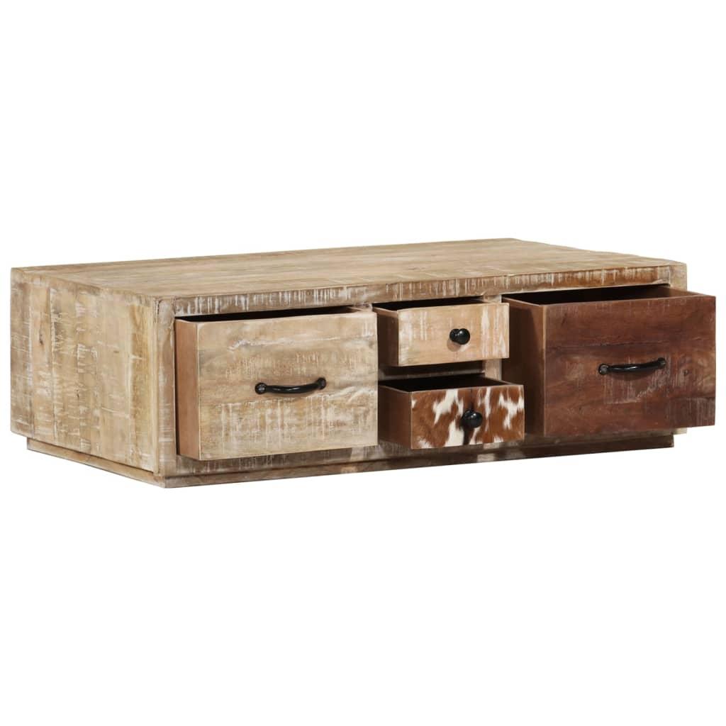 vidaXL Stolik kawowy, 90x60x30 cm, lite drewno mango