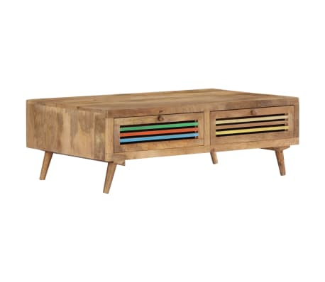 vidaXL Coffee Table 100x60x30 cm Solid Mango Wood